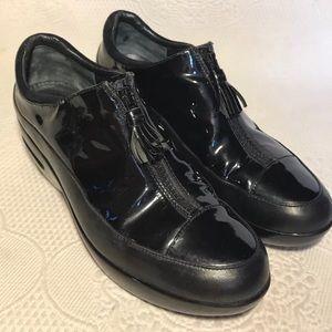 COLE HAAN Black Patent Nike Air waterproof wedge